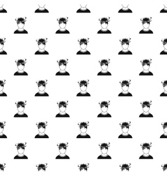 Male avatar and stars from blow pattern vector
