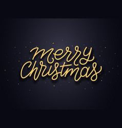 Merry christmas wishes typography card vector