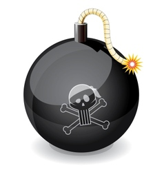Pirate black glossiness bomb vector