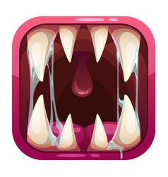 Predator mouth app icon vector