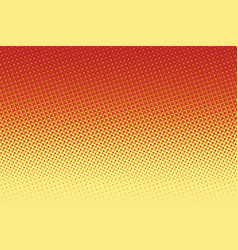 red yellow pop art halftone background vector image