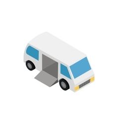 Transport for the disabled icon isometric 3d style vector