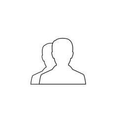 User line icon profile outline logo vector