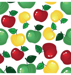 vector fruit icon apple seamless background fabric vector image vector image