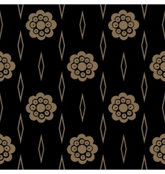 Vintage pattern with flower vector image vector image
