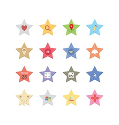 Web star icons vector
