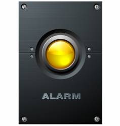 yellow button vector image