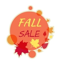 Fall autumn sale round banner isolated vector