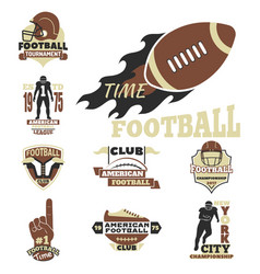 American football championship badge template for vector