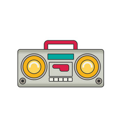 Tape recorder flat vector