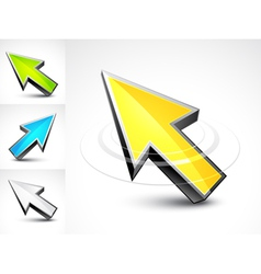 3d pointer arrows vector image vector image
