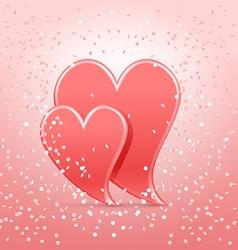 hearts in confetti vector image
