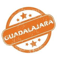 Guadalajara rubber stamp vector