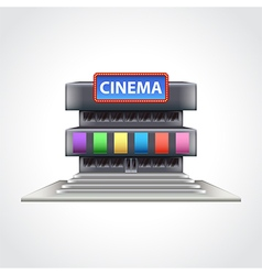 Cinema building isolated vector