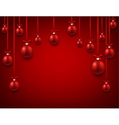 Arc background with red christmas balls vector
