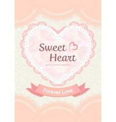 Cute pastel sweet elegant soft orange peach lace vector