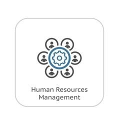 Human resources management icon business concept vector