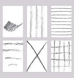 Sketch pencil line banners vector image