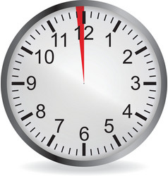 Clock with red 1 minute deadline vector