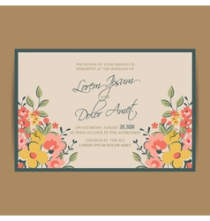 wedding invitation pink card vector image