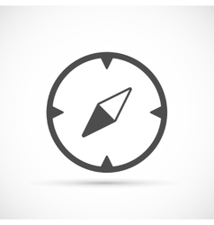 Compass basic icon vector