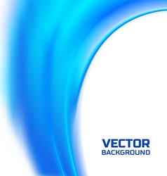 Abstract blurred blue flow background vector image vector image
