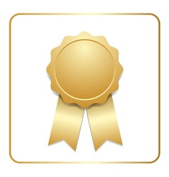 Award ribbon gold icon vector image vector image