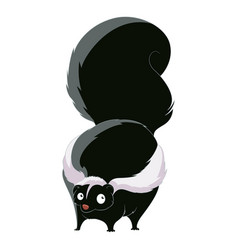 Cartoon fat skunk vector