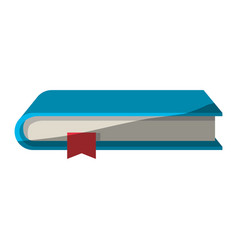 Colorful graphic of book with bookmark without vector