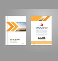 Cover annual report brochure flyer template in a4 vector