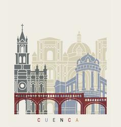 cuenca ec skyline poster vector image