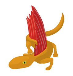 Dinosaur lizard icon cartoon style vector