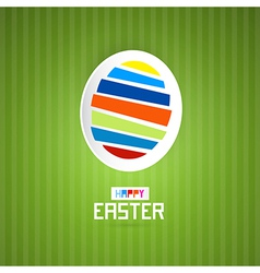 Easter Green Background with Abstract Egg vector image