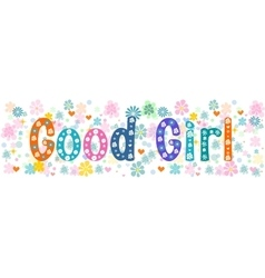 Good girl banner vector image