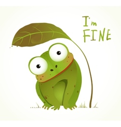 Green baby frog childish animal fun cartoon vector