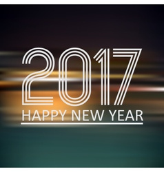 happy new year 2017 on dark color night horizontal vector image vector image