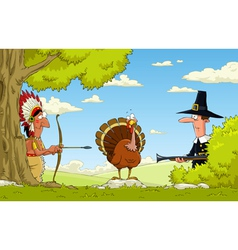 Hunting for turkey vector