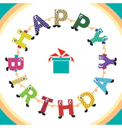 Inscription happy birthday vector