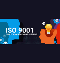 iso 9001 quality management systems certification vector image vector image