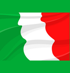italian flag background in 3d style vector image