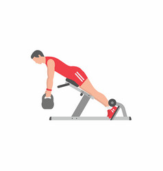 man doing lower back exercise vector image