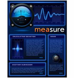 measure brochure vector image vector image