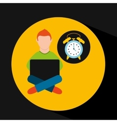 Online training education-student clock alarm vector