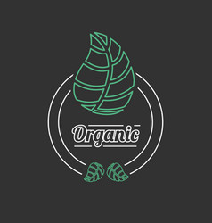 Organic food outline banner or icon vector
