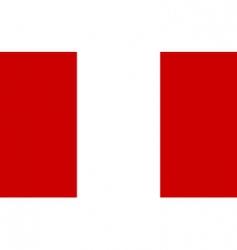 peru flag vector image vector image