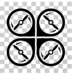 Quadcopter screws rotation icon vector