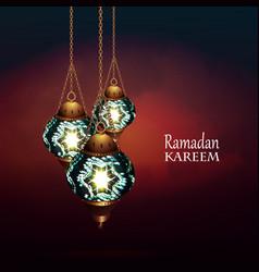 ramadan kareem lantern vector image