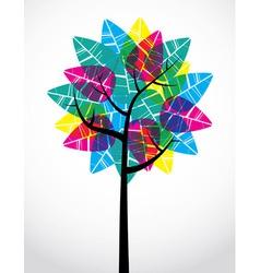 Transparent Leaf Tree vector image vector image