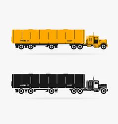 truck car symbol vector image vector image