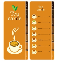 Tea cards vector